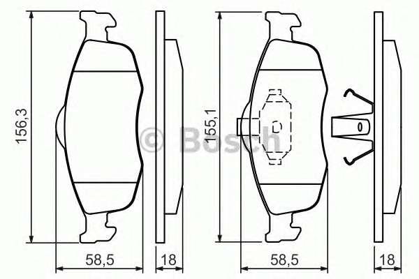 BOSCH 0 986 460 969 Комплект тормозных колодок, дисковый тормоз