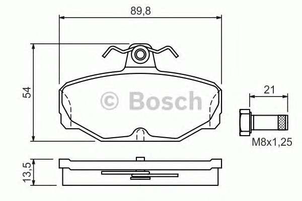 BOSCH 0 986 469 810 Комплект тормозных колодок, дисковый тормоз