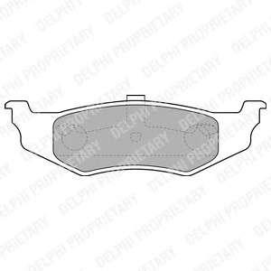DELPHI LP1515 Комплект тормозных колодок, дисковый тормоз