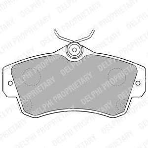 DELPHI LP1522 Комплект тормозных колодок, дисковый тормоз
