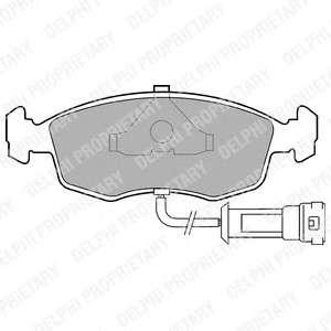 DELPHI LP457 Комплект тормозных колодок, дисковый тормоз