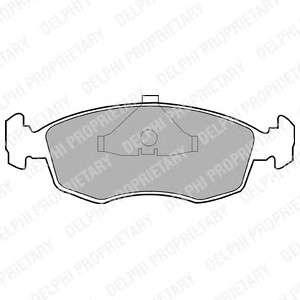 DELPHI LP587 Комплект тормозных колодок, дисковый тормоз
