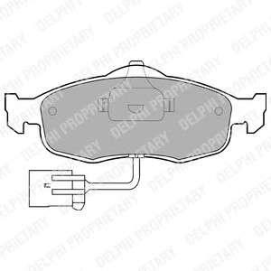 DELPHI LP781 Комплект тормозных колодок, дисковый тормоз