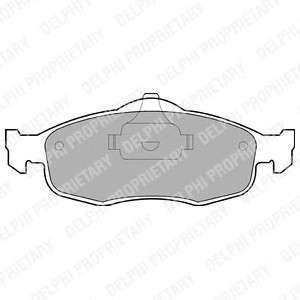 DELPHI LP782 Комплект тормозных колодок, дисковый тормоз