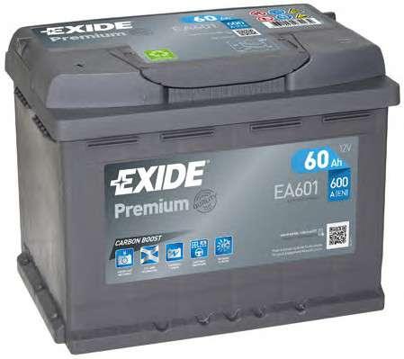 Запчасть ea601 exide Стартерная аккумуляторная батарея; Стартерная аккумуляторная батарея