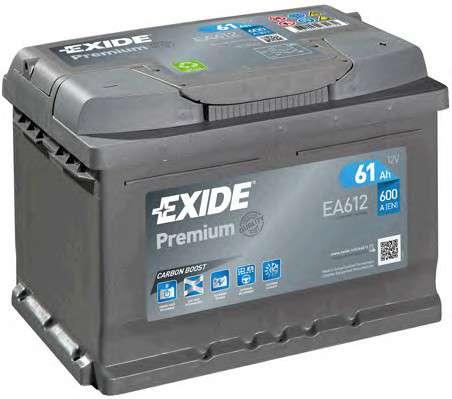 EXIDE _EA612 Стартерная аккумуляторная батарея; Стартерная аккумуляторная батарея