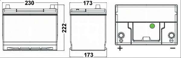 EXIDE EA655 Стартерная аккумуляторная батарея; Стартерная аккумуляторная батарея