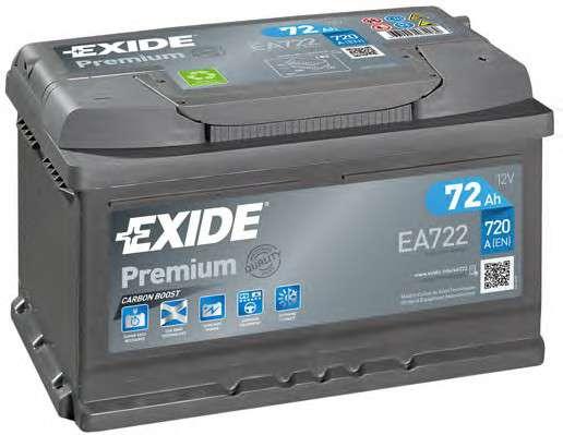 Запчасть ea722 exide Стартерная аккумуляторная батарея; Стартерная аккумуляторная батарея