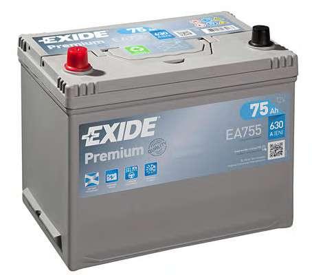 EXIDE EA755 Стартерная аккумуляторная батарея; Стартерная аккумуляторная батарея