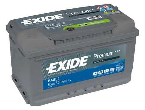 EXIDE _EA852 Стартерная аккумуляторная батарея; Стартерная аккумуляторная батарея