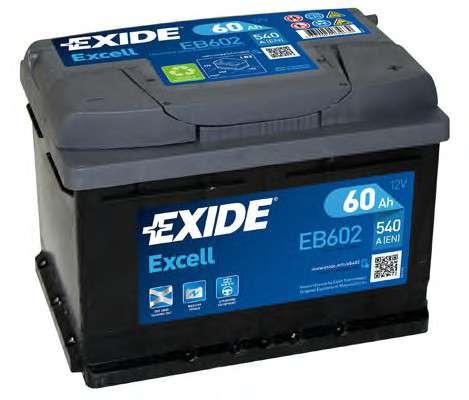 EXIDE EB602 Стартерная аккумуляторная батарея; Стартерная аккумуляторная батарея