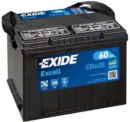 EXIDE EB608 Стартерная аккумуляторная батарея; Стартерная аккумуляторная батарея