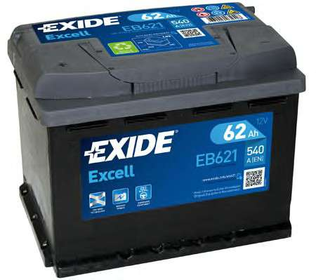 EXIDE EB621 Стартерная аккумуляторная батарея; Стартерная аккумуляторная батарея