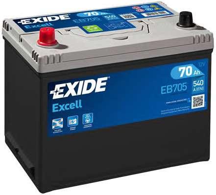 EXIDE EB705 Стартерная аккумуляторная батарея; Стартерная аккумуляторная батарея