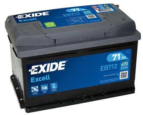 EXIDE EB712 Стартерная аккумуляторная батарея; Стартерная аккумуляторная батарея