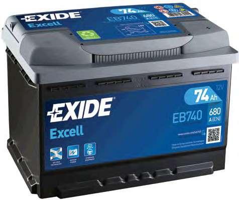 EXIDE EB740 Стартерная аккумуляторная батарея; Стартерная аккумуляторная батарея
