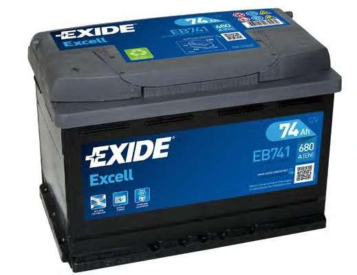 EXIDE EB741 Стартерная аккумуляторная батарея; Стартерная аккумуляторная батарея