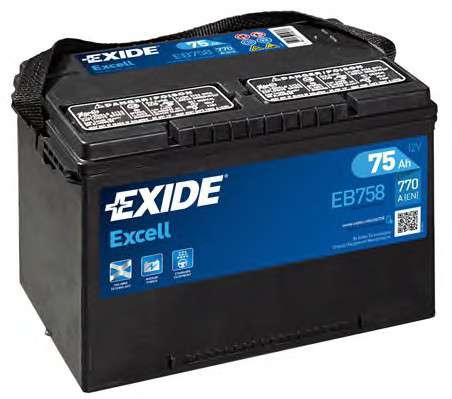 EXIDE EB758 Стартерная аккумуляторная батарея; Стартерная аккумуляторная батарея