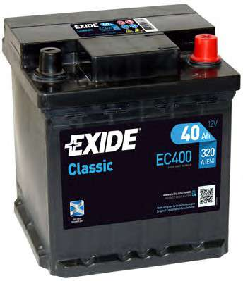 Запчасть ec400 exide Стартерная аккумуляторная батарея; Стартерная аккумуляторная батарея