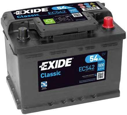 EXIDE EC542 Стартерная аккумуляторная батарея; Стартерная аккумуляторная батарея