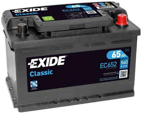 EXIDE EC652 Стартерная аккумуляторная батарея; Стартерная аккумуляторная батарея