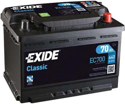 EXIDE EC700 Стартерная аккумуляторная батарея; Стартерная аккумуляторная батарея