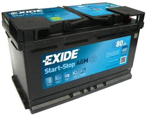 EXIDE EK800 Стартерная аккумуляторная батарея; Стартерная аккумуляторная батарея