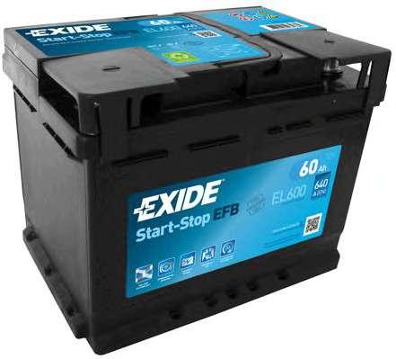 EXIDE EL600 Стартерная аккумуляторная батарея; Стартерная аккумуляторная батарея