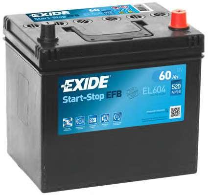 Запчасть el604 exide Стартерная аккумуляторная батарея; Стартерная аккумуляторная батарея