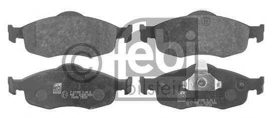 FEBI BILSTEIN 16202 Комплект тормозных колодок, дисковый тормоз