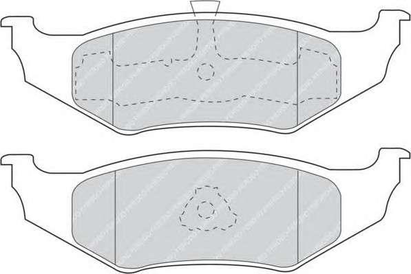 FERODO FDB1099 Комплект тормозных колодок, дисковый тормоз