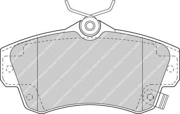 FERODO FDB1442 Комплект тормозных колодок, дисковый тормоз