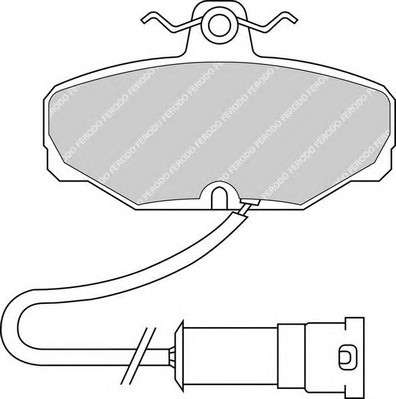 FERODO FDB408 Комплект тормозных колодок, дисковый тормоз
