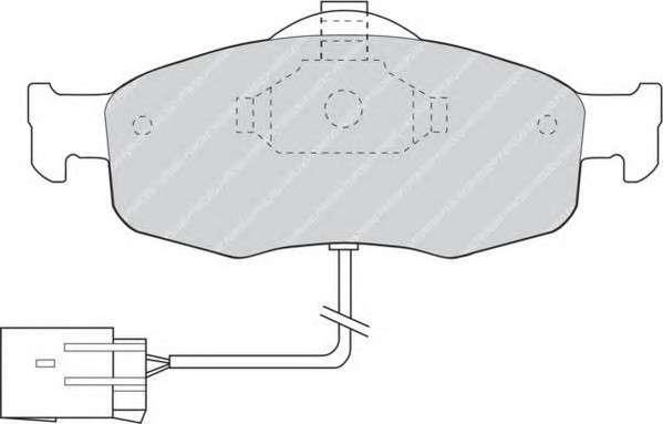 FERODO FDB766 Комплект тормозных колодок, дисковый тормоз