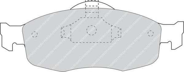 FERODO FDB884 Комплект тормозных колодок, дисковый тормоз