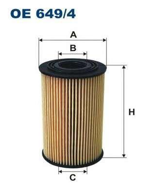 FILTRON OE649/4 Масляный фильтр