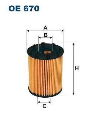 Запчасть oe670 filtron Масляный фильтр