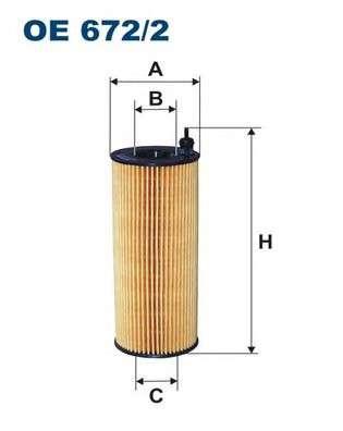 FILTRON OE672/2 Масляный фильтр