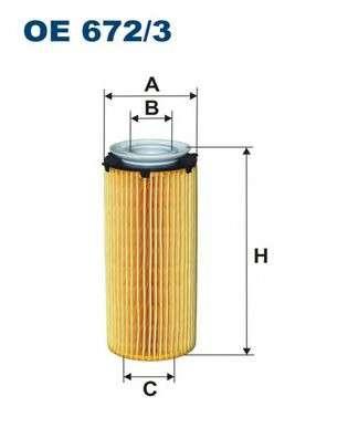 FILTRON OE672/3 Масляный фильтр