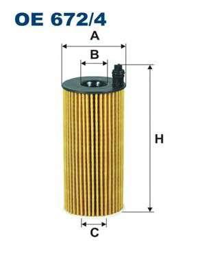 FILTRON OE672/4 Масляный фильтр