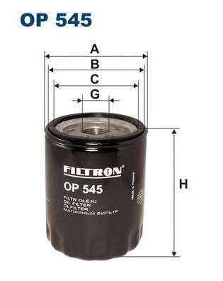 Запчасть op545 filtron Масляный фильтр