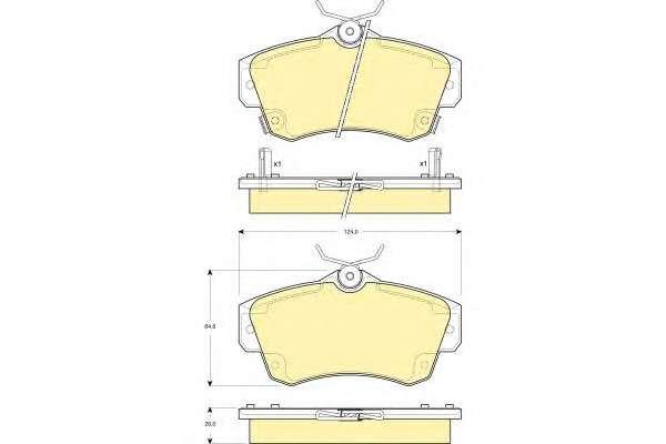 GIRLING 6141181 Комплект тормозных колодок, дисковый тормоз