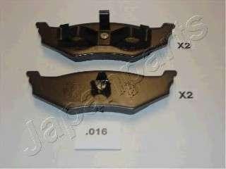 JAPANPARTS PP-016AF Комплект тормозных колодок, дисковый тормоз