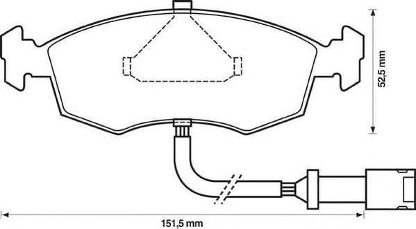 JURID 571351J Комплект тормозных колодок, дисковый тормоз