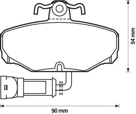 JURID 571408J Комплект тормозных колодок, дисковый тормоз