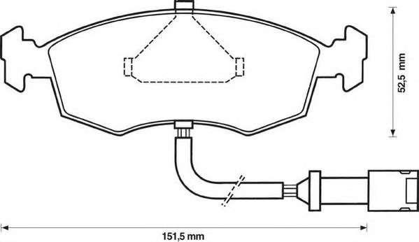 JURID 571849J Комплект тормозных колодок, дисковый тормоз