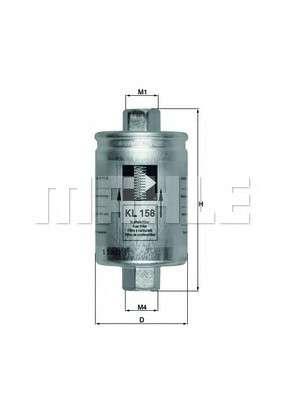 KNECHT KL 158 Топливный фильтр