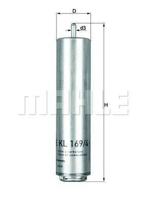 KNECHT KL 169/4D Топливный фильтр