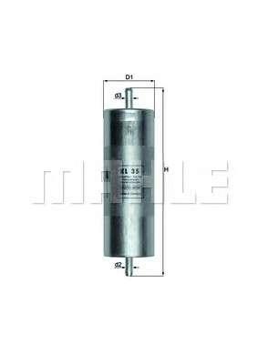 KNECHT KL 35 Топливный фильтр