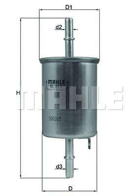 KNECHT KL 573 Топливный фильтр